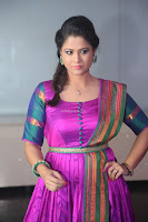 Shilpa Chakravarthy in Purple tight Ethnic Dress ~  Exclusive Celebrities Galleries 057.JPG