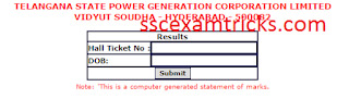TS GENCO AE Result 2015 Declared