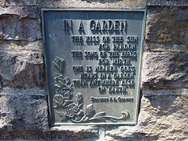 Extract from Dorthy Gurney's poem found at the International Rose Test Garden in Portland, USA