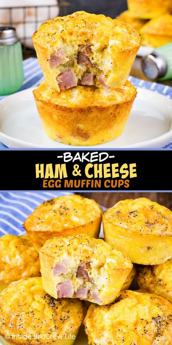 Baked Ham and Cheese Egg Muffins - these easy to make egg muffins make a delicious and healthy breakfast. Perfect recipe to make and freeze ahead of time! #breakfast #eggs #healthy #ketofriendly #eggmuffins #freezerfriendly #breakfast #eggs #healthy #ketofriendly #eggmuffins #freezerfriendly #food #health #recipes #healthyrecipes #healthyfood #healthyeating #seafoodrecipes #seafood #healthysnacks #foodphotography #recipeoftheday #recipeideasb