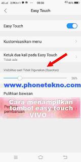Cara mengaktifkan tombol easy touch VIVO Y83