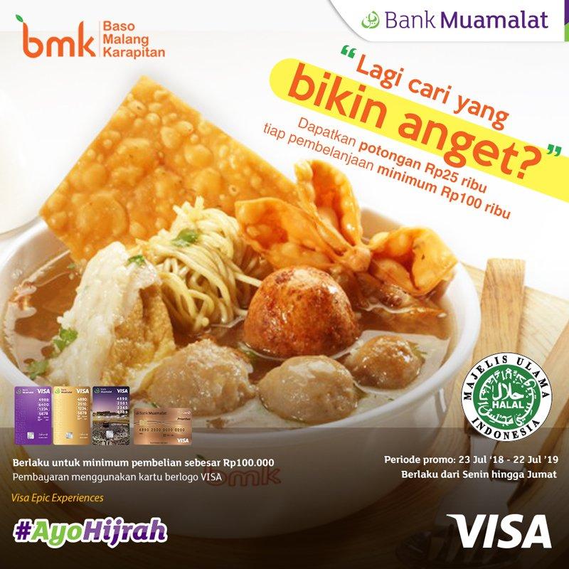 #BankMuamalat - Promo Potongan 25K Min Belanja 100K di BMK (s.d 22 Juli 2019)