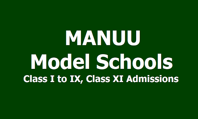 MANUU Model School Admissions