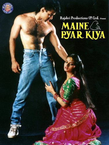 Poster Of Maine Pyar Kiya 1989 720p Hindi HDRip Full Movie Download