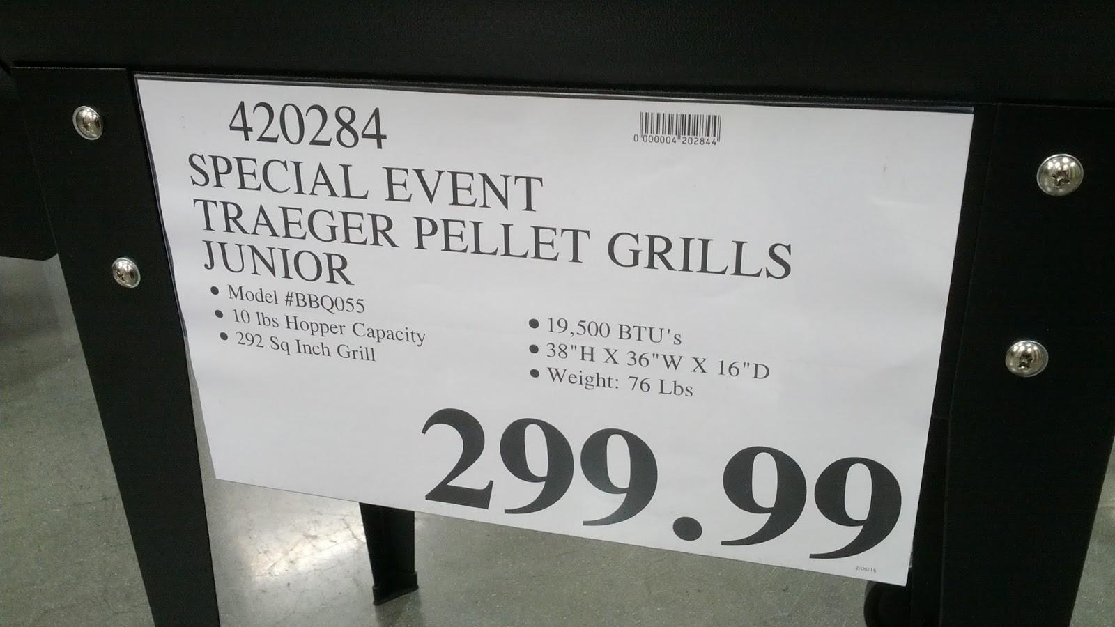 Traeger Pellet Grill Junior (model no. BBQ055) | Costco ...