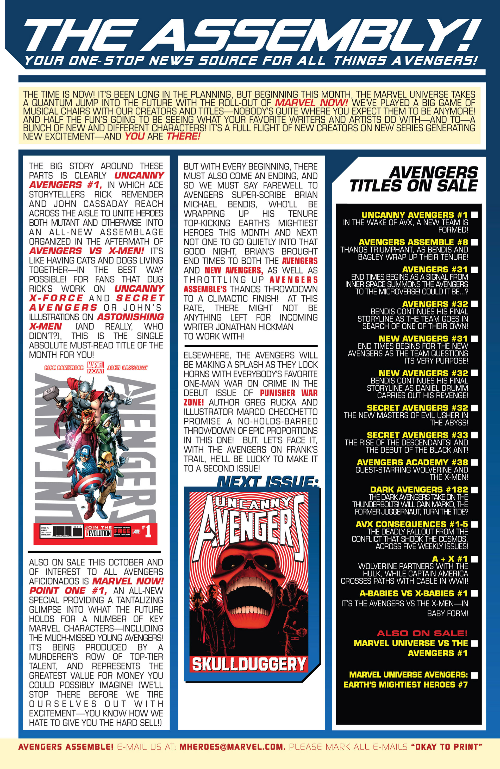 Read online Uncanny Avengers (2012) comic -  Issue #1 - 24