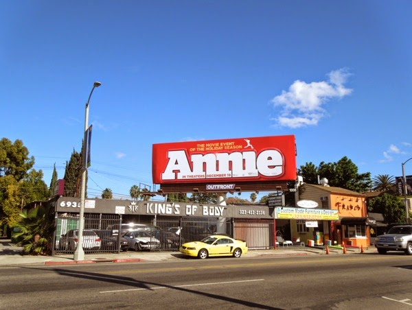 Annie 2014 movie billboard