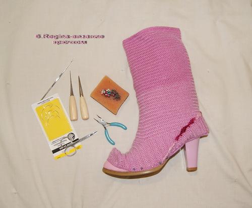 Botas Forradas de Crochet.Tunear