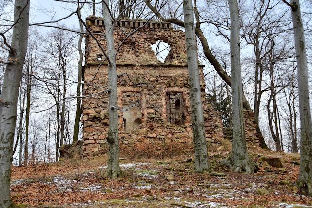Ruiny zamku myśliwskiego na Wzgórzu Radziwiłłówka