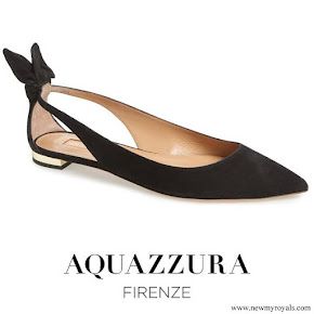 Meghan Markle wore AQUAZZURA Deneuve Bow Pointy Toe Flat