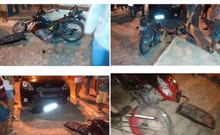 Jaçanaense tem moto destruída após bater na frente de carro em Nova Floresta