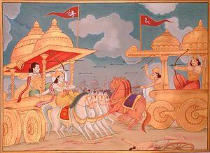 Karn arjuna battle mahabharata story, Mahabharata story of karna vadh
