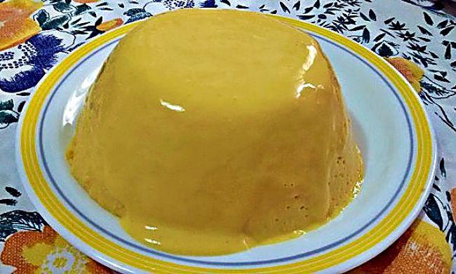 Pudín de mango sin azúcar añadido