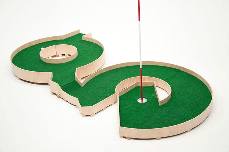 Typographic Golf Course