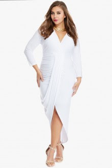 Long White Maxi Dresses Plus Size