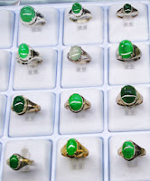 Chinese Jade Rings with gold setting