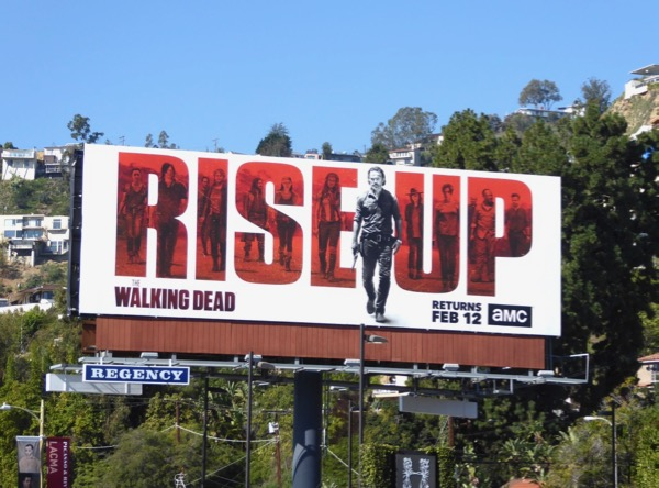 Walking Dead season 7 part 2 billboard