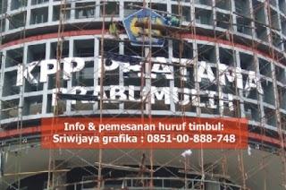 Huruf timbul palembang bahan stenlis kantor pajak prabumulih sumatera selatan