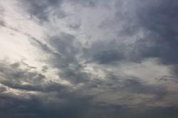 Graue Wolken...