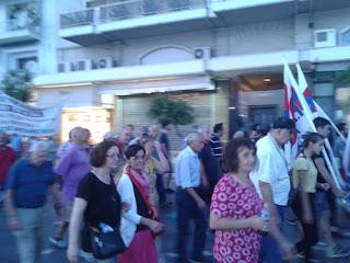 Το ΠΑΜΕ Πιερίας στο συλλαλητήριο στην Θεσσαλονίκη.