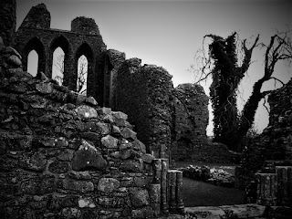 Inch Abbey - DownPatrick, N. Ireland, black and white