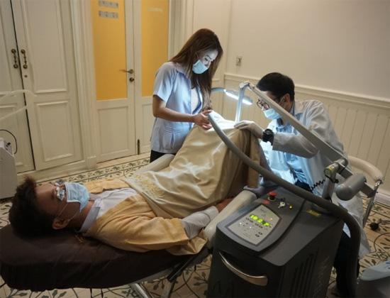 Mudar cor do penis clareamento laser