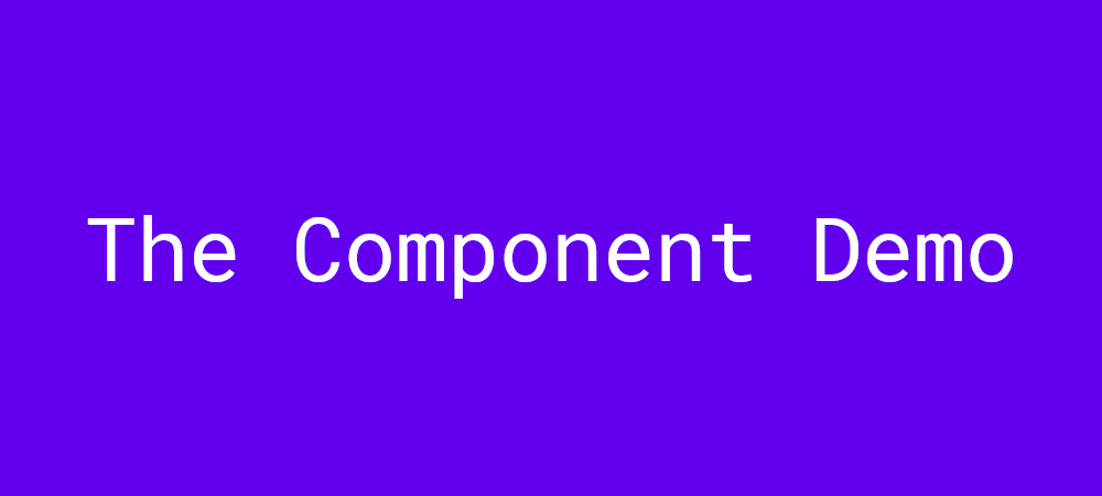 The component demo