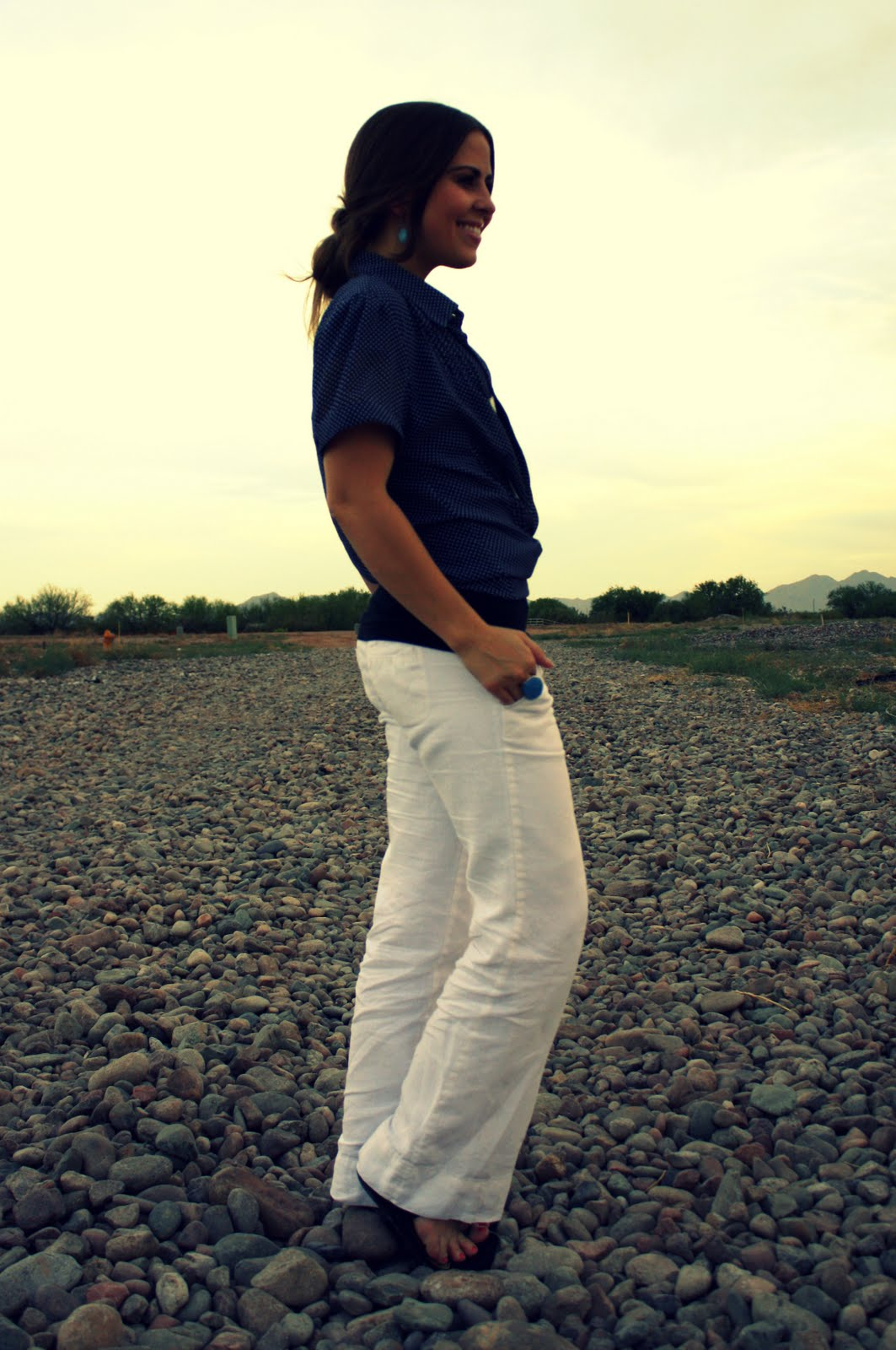 Le Linen Pants Dress Cori Lynn
