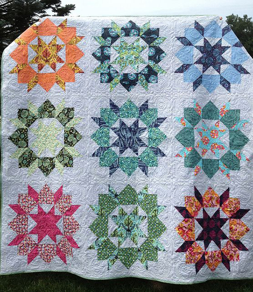 Tula Pink Swoon Quilt made by April Campbell, The Pattern by Judy Anne Breneman of Patterns from History