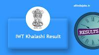 IWT Khalashi Result