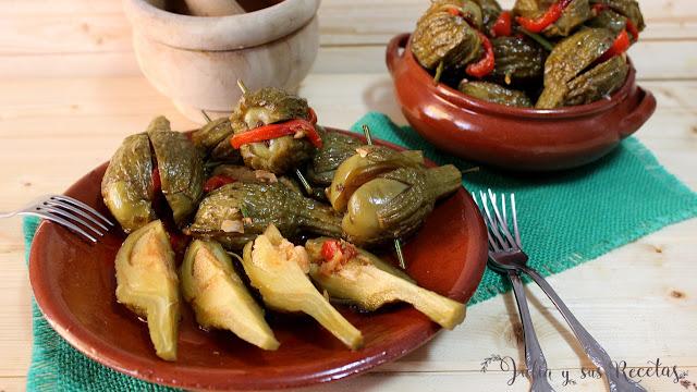 Berenjenas aliñadas de Almagro. Julia y sus recetas