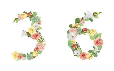 A floral number 36