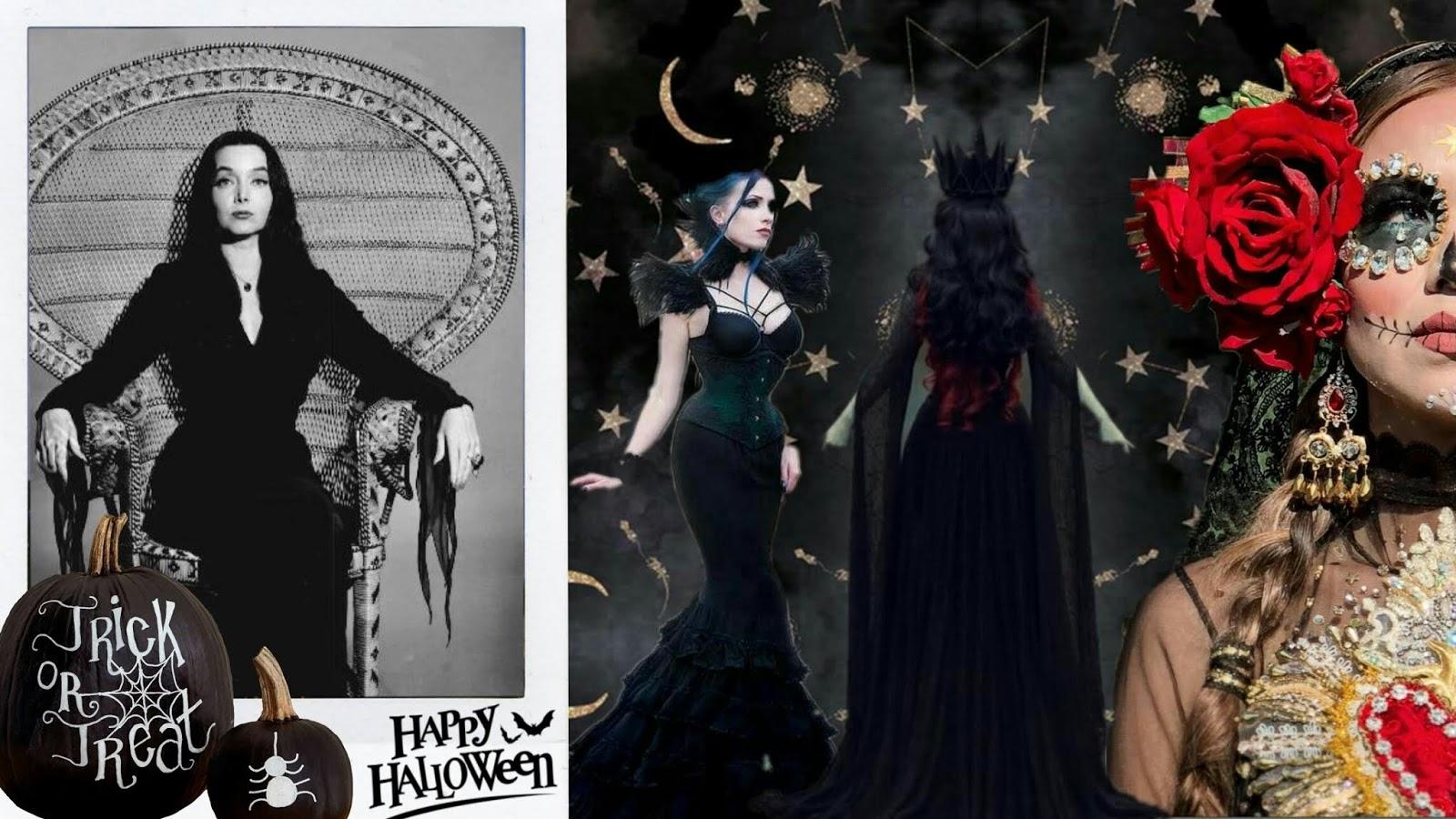 Disfraces para Halloween con el básico vestido negro