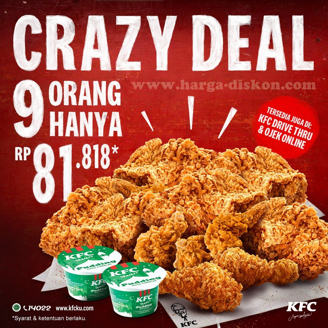 Promo Kfc 9 Pcs Chicken 2 Puding Smart Family Deals Rp81 818 Periode 1 3 Mei 2020 Harga Diskon