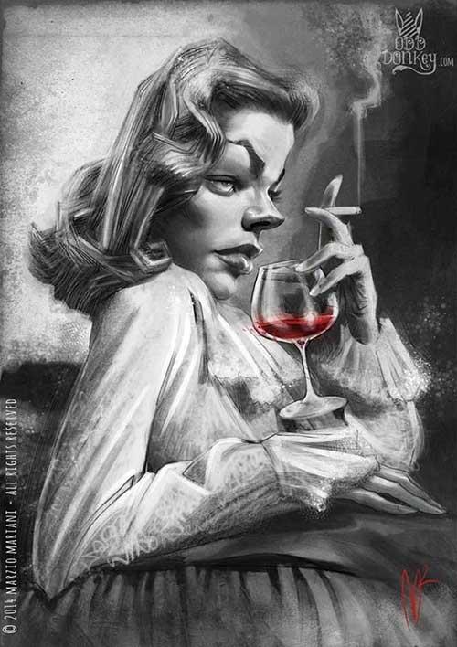 """Lauren Bacall"" por Marzio Mariani"