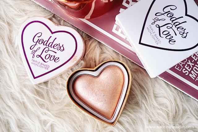 Makeup Revolution Goddess Of Love Triple Baked Highlighter Review