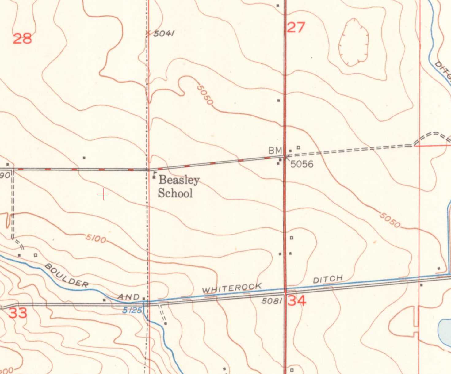 Red North South Road Is Us 287 Niwot Road Is East West Dashed Red Gray Road