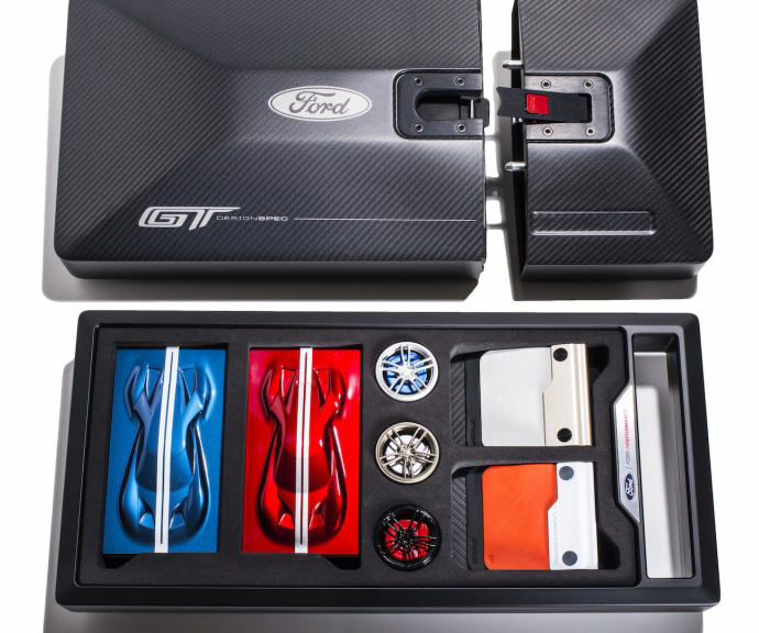 A Very Cool Souvenir Is Part Of Ordering The  Ford Gt The Options Brochure Is Now Replaced With This Cool Ordering Kit