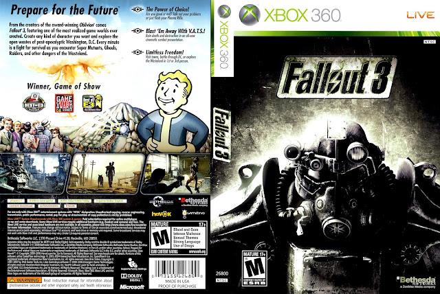 Capa Fallout 3 Xbox 360