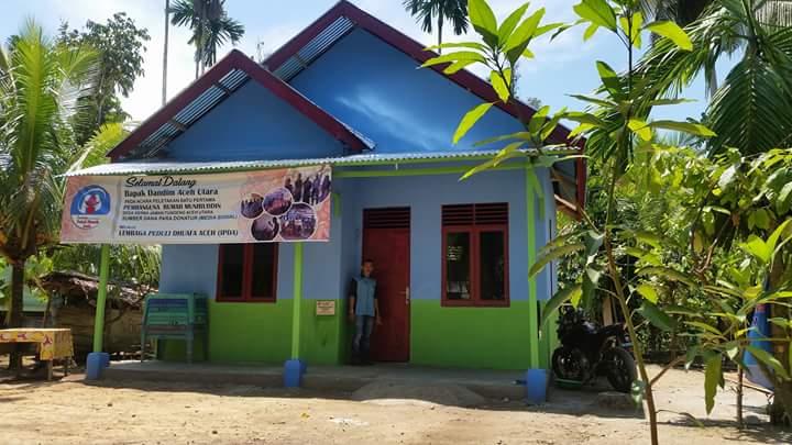 Dalam Rangka Menyambut Hut RI yang Ke 72 LPD dan Kodim Aceh Utara Resmikan Rumah Amirudin