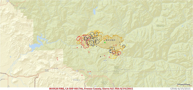 Rough Fire Perimeter and Hotspot Map 08/19/2015