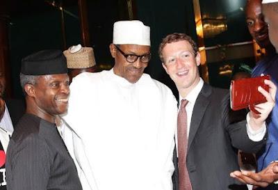 Mark Zuckerberg returns to Nigeria to take selfie with President Muhammadu Buhari, others (Photos)