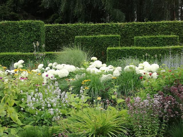 rabata w stylu angielskim, perennial border, trawy w ogrodzie
