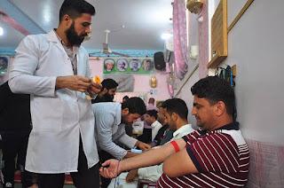 هيئة أئمة البقيع الثقافية  في كربلاء ترعى حملة تبرع بالدم