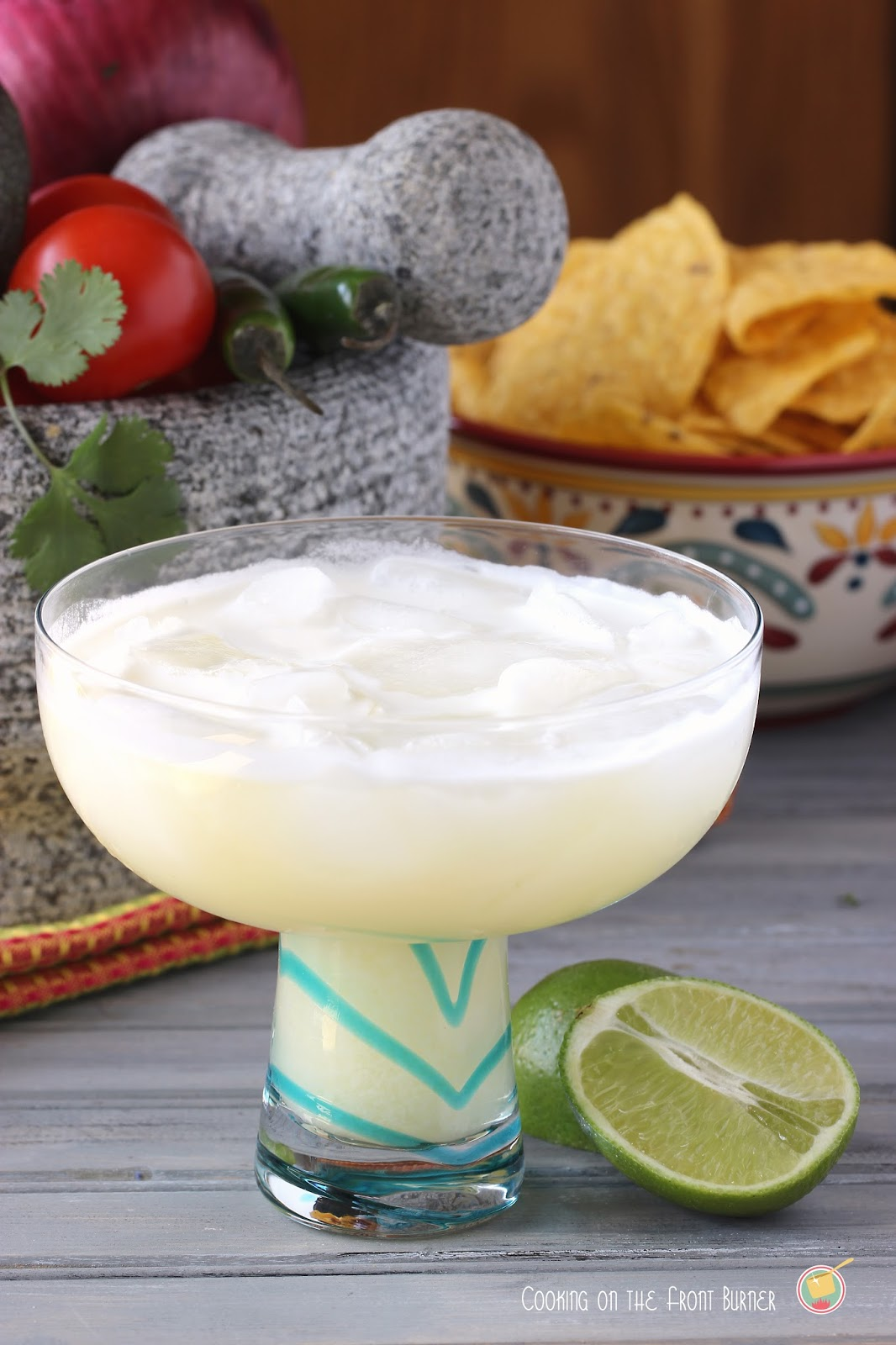 Colada Margarita - a twist combining a pina colada and margarita | Cooking on the Front Burner #cincodemayo #cocktails #margarita #pinacolada