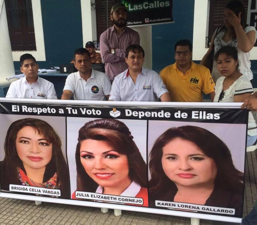 SOS Bolivia llama a la reflexión a magistradas Gallardo, Vargas y Cornejo / FACEBOOK