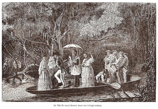 A festa de São Benedito numa aldeia indígena.