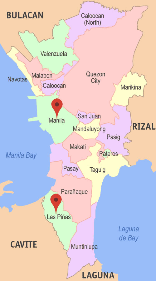 How to go from Manila to Las Pinas