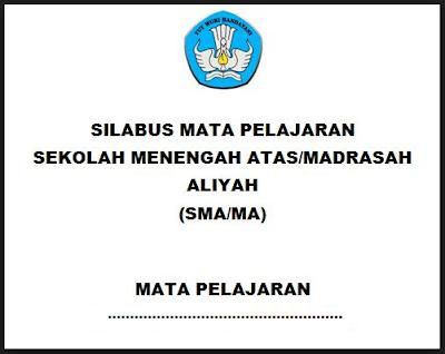 Silabus Bahasa Indonesia SMA/MA/SMK Kurikulum 2013 Revisi 2017