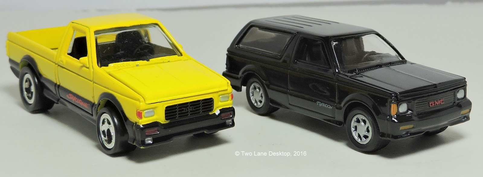 Johnny Lightning 1991 GMC Syclone and 1992 GMC Typhoon | Two